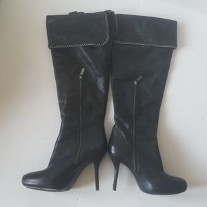 DKNY leather boots size 7.5 womens